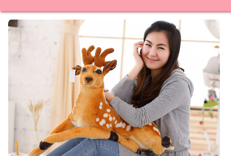 stuffed animal 85cm plush lying sika deer toy doll great gift w093 stuffed simulation animal snake anaconda boa plush toy about 280cm doll great gift free shipping w004