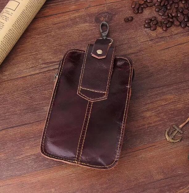 Belt Clip Man Genuine Cow Leather Mobile Phone Case Pouch For Nokia 3 Oneplus 5 Elephone
