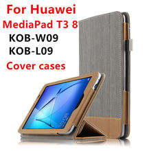 Case For Huawei MediaPad T3 8 Protective Smart Cover Leather Tablet PC For huawei T38 KOB-W09 L09 Case Cover PU Protector Sleeve