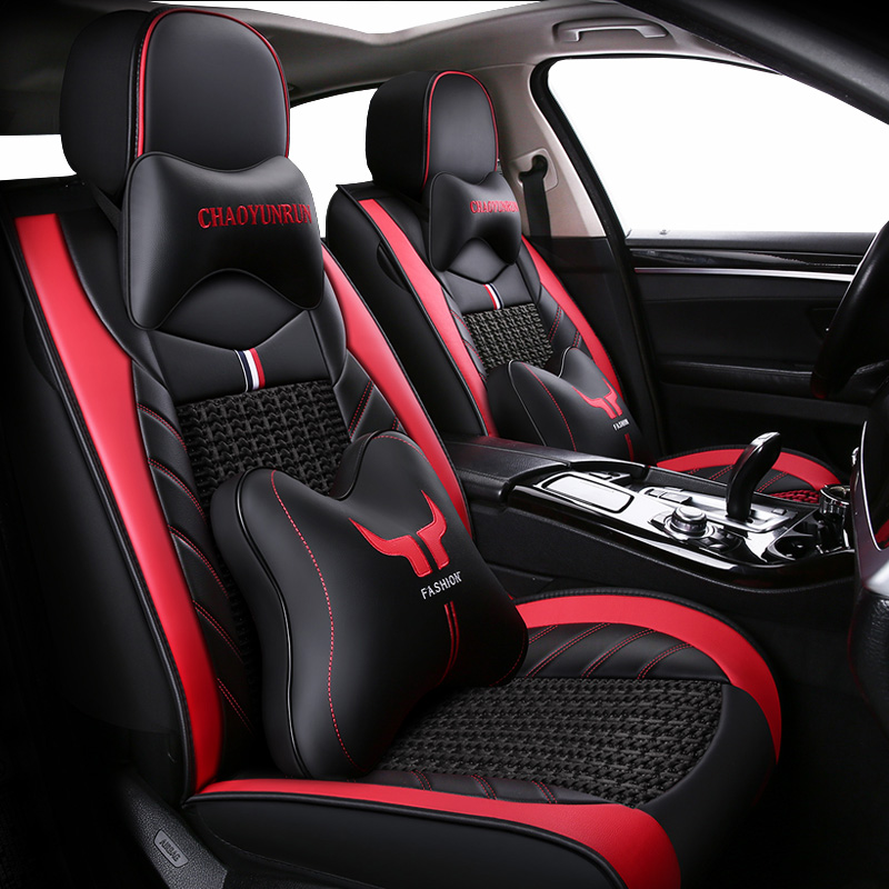 (Front+Reat) PU Leather Car Seat Covers For Mitsubishi Pajero 4 2 Sport Outlander Xl Asx Accessories Lancer 9 10 Seat Covers