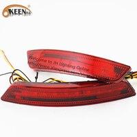 OKEEN 2Pcs Lot LED External Light Rear Lamp For Ford Lens 12V Red Brake Stop Lamp