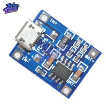 TP4056 5V 1A Micro USB 18650 Lithium Battery Charging Board Charger Module Protection Dual Functions for Arduino Diy Kit(China)