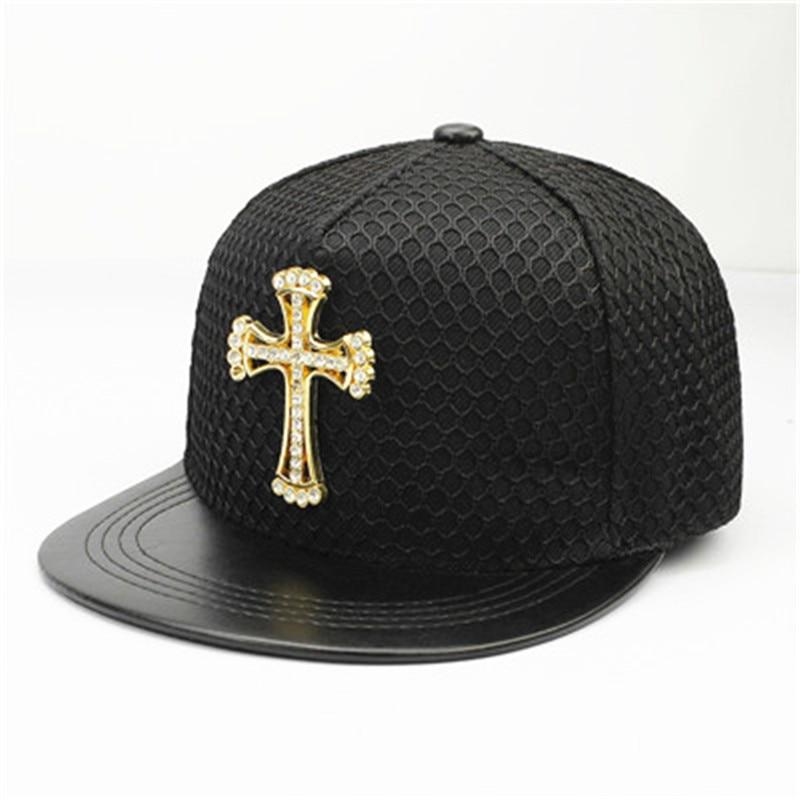 LDSLYJR acrylic Metal cross   Baseball     Cap   Adjustable Hip-hop   cap   Snapback   Cap   hats for Men and Women