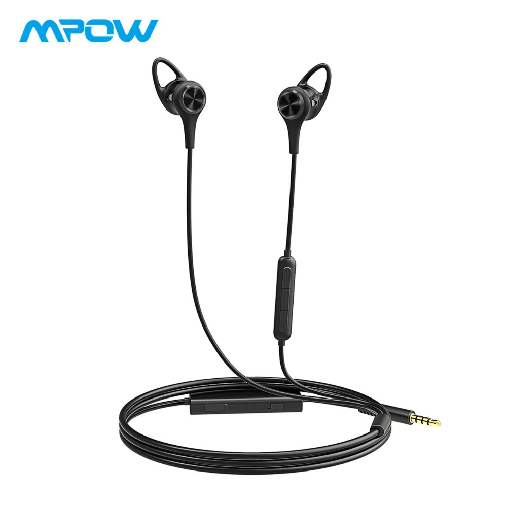 где купить Mpow 175A In-Ear Active Noise Cancelling Headphones 20H Super Long Playtime HiFi Stereo Wired Monitor Earphone With Mic&EVA Case дешево