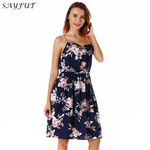 92b95f15dd (Ship from US) Floral Print Boho Style Womens Sexy Off Shoulder Floral  Print Dress Summer Maxi Sundress Big Size Elegant Wedding Party Dresses