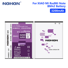 NOHON BM42 Real 3200mAh High Capacity Rechargeable Lithium Polymer Battery For Xiaomi Mi Redmi Note Phone Bateria Batteries