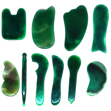 Green agate Roller Slimming Face Massager Lifting Tool Natural Jade Facial Massage Stone Skin Beauty Care GUASHA