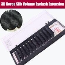 3D Корея шелк объем ресниц B/C/D природные длинные ресницы искусственные ресницы макияж ресницы с бесплатным