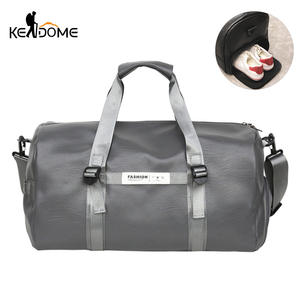 Travel Bag For Shoes Black Pu Leather Sports Gym Bag Fitness Outdoor Men s  Gymnastic 66a84fe345e2f