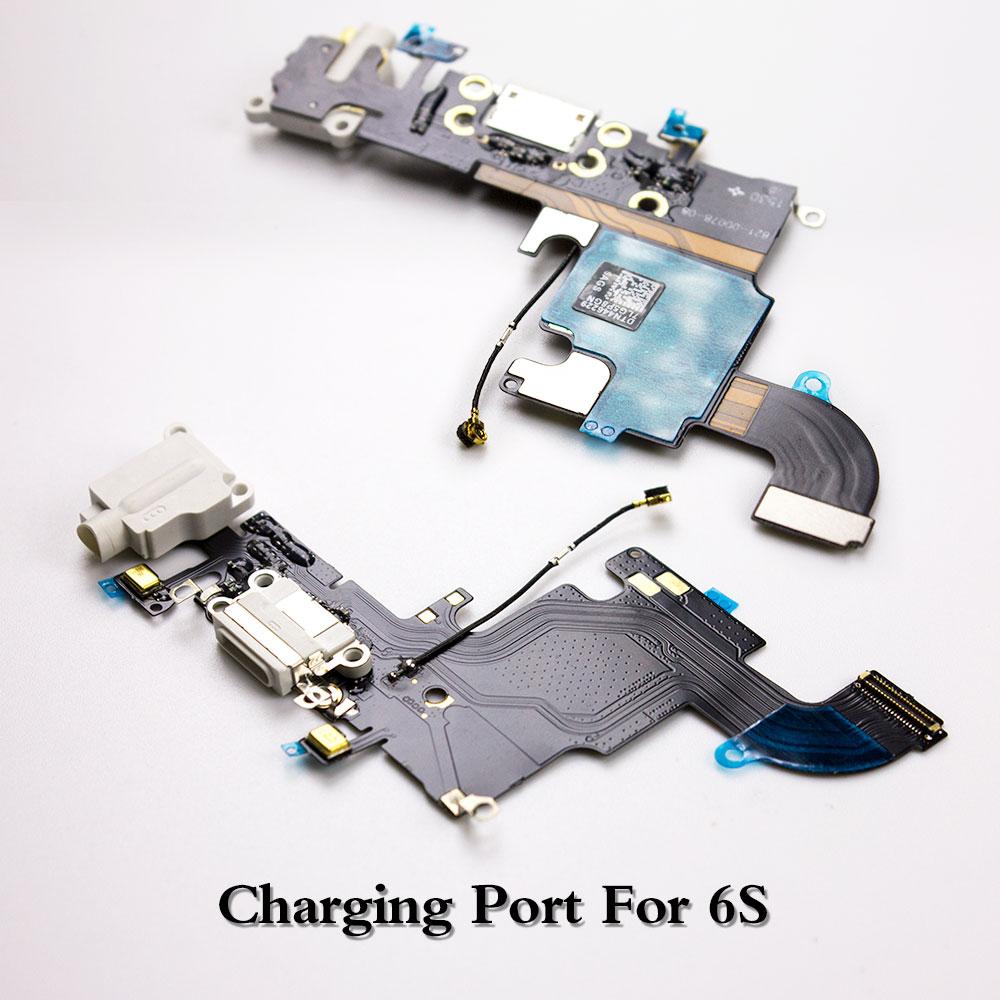 LEOLEO Brand New USB Charging Port Dock Connector Flex Cable For IPhone 6S  Plus 6SPlus Mircophone Headphone Audio Jack