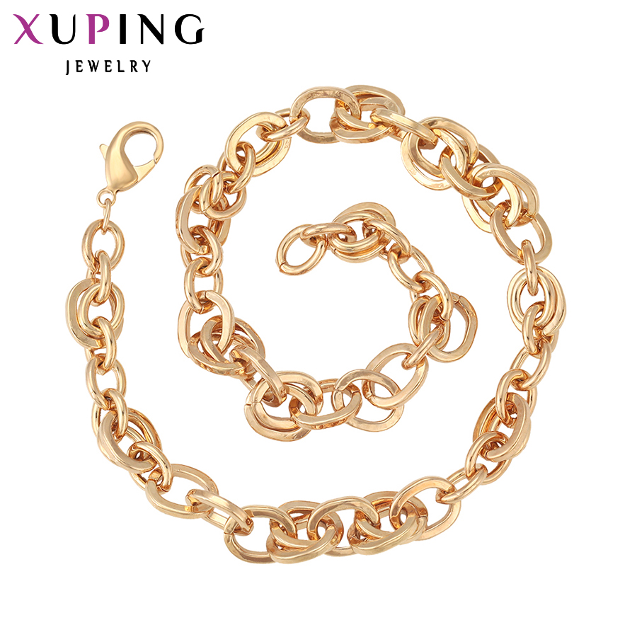 11.11 Xuping Christmas discount Fashion Big Necklace Top Quality Special Design Gold Color Plated Big Necklace Jewelry 40018