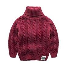 Толстый свитер пальто цвет теплый хлопок шеи защита детские baby boy зимний свитер