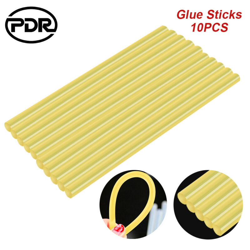 PDR Tools 10 Pcs/set Glue Sticks Paitless Dent Removal Tools Dent Damage Repair Tools
