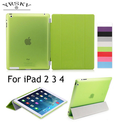 Case for iPad 2 iPad 3 iPad 4 YRSKV Separate PU leather Smart Auto Sleep Wake + Hard PC Back Case for iPad 2/3/4