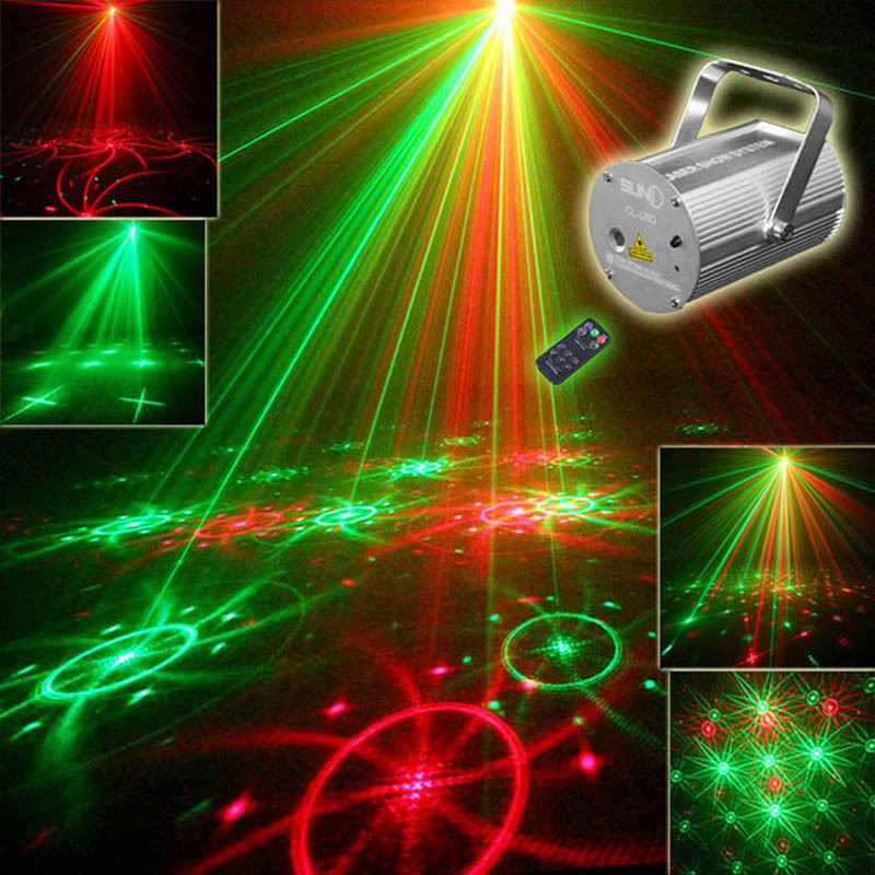 New SUNY IR Remote RG DJ Laser Stage Lighting Effect Laser Projector Red Gree