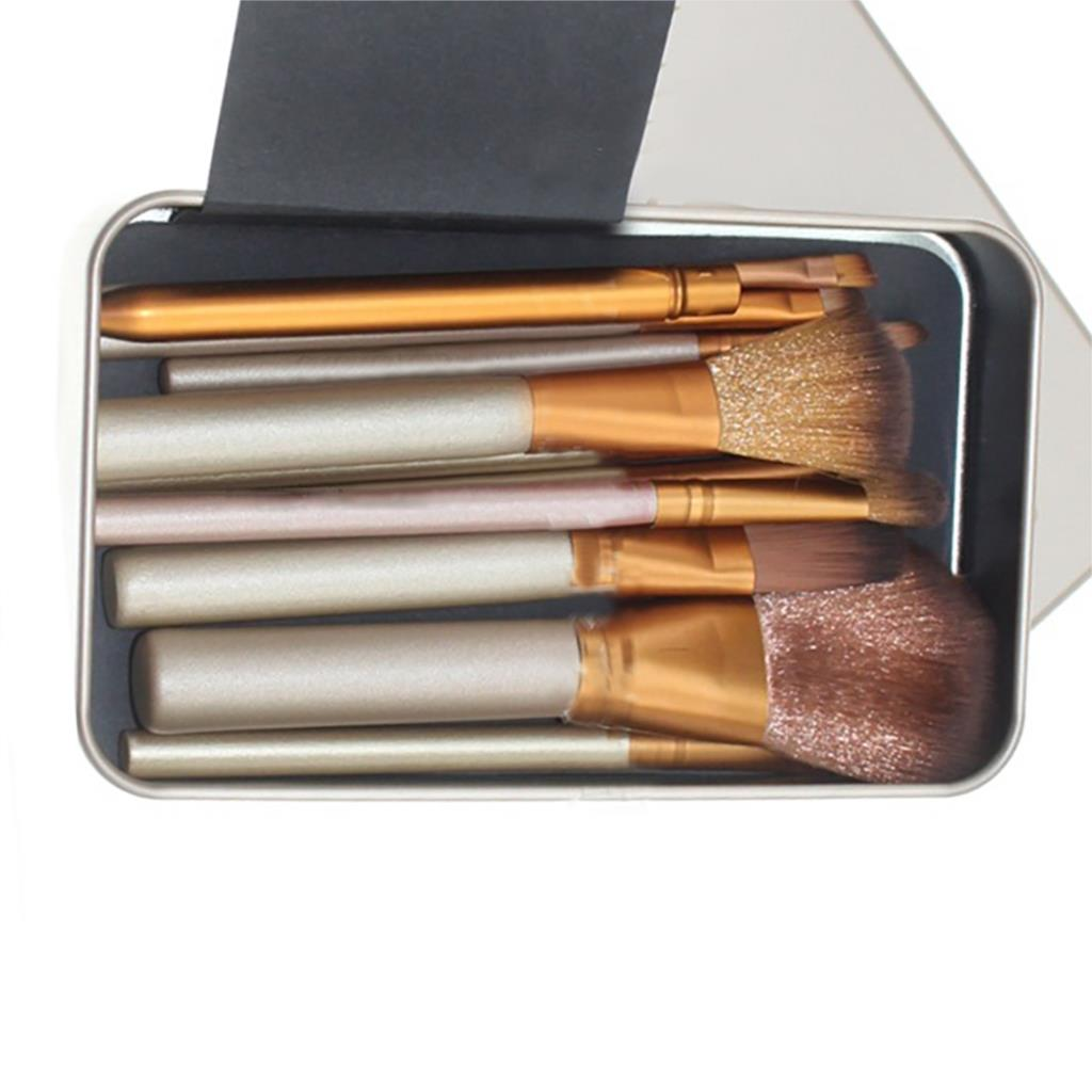 2016 brand makeup 12Pcs Tin Golden Eye Shadow Makeup Brush Set Beauty Tools Professional Kabuki Brush Foundation Blending six black eye makeup brush brush eye shadow brush black beauty makeup tools
