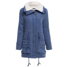 Women Causal Parkas Mujer 2017 Winter Slim Long Sleeve Hooded Medium Padded Jacket Wool Liner Coat Casaco Feminino