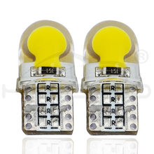 T10 Led Cold White Blue Pink 194 W5W DC 12V LED 168 COB Auto Silica Car Super Bright Turn Side License Plate Light Lamp Bulb(China)