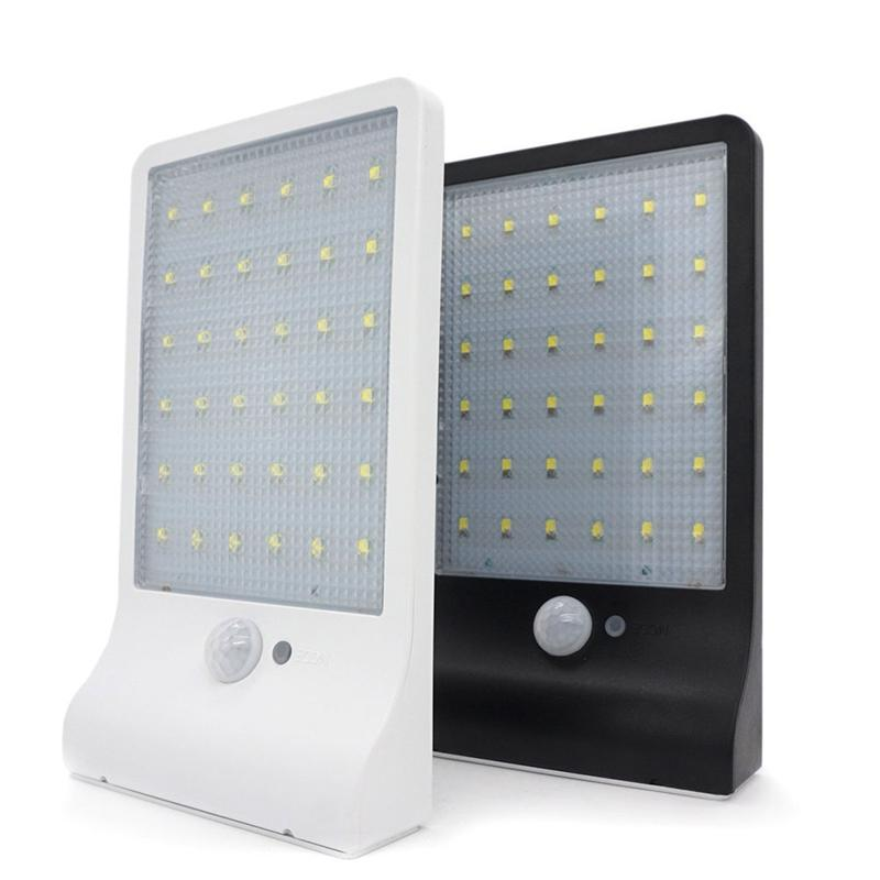 36LED Wall Sconce Solar Powered Wall Light Lamp Motion ...
