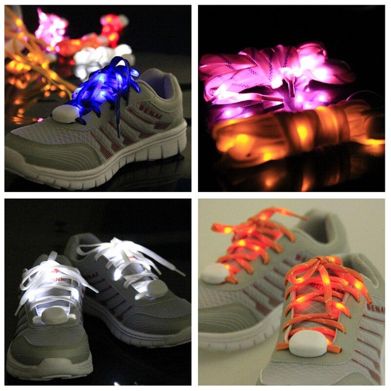 5 пара/лот Мода 2016 года волокно Bling <font><b>LED</b></font> Шнурки шнурке мигающей подсветкой палке ремень шнурки украшение партии