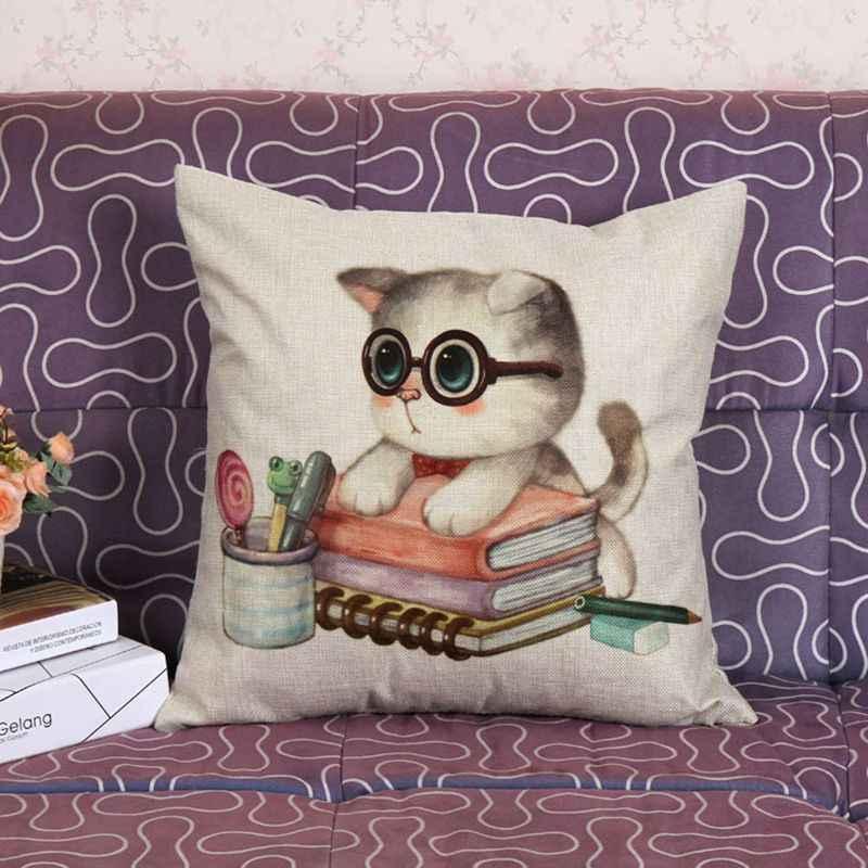 New Cuscino Simpatico Gatto Cuscino Pad Cuscino Geometrico Cove Casa Divano Auto Decorazione Regalo