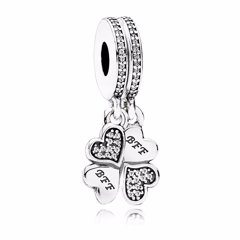 2016-New-Best-Friends-Forever-dangle-Charm-925-sterling-silver-hearts-charms-fit-beads-bracelet-necklace