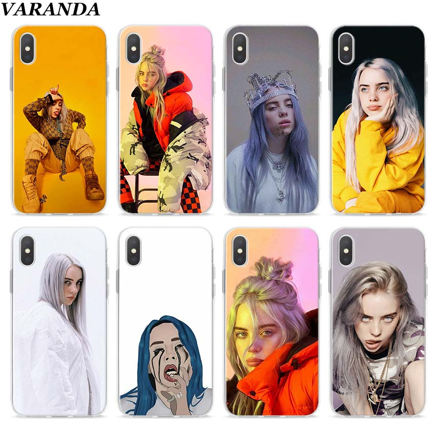 Billie Eilish 13 Girl Clear Case for Apple iPhone 7 8 Plus 6 6s Plus 5 5s X XR XS MAX TPU Soft cases Coque image