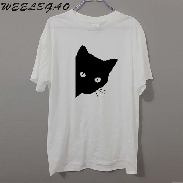 902b48a5375 Fashion CAT FACE Pet Lover T Shirt Men Funny Christian Gift Cotton Short  Sleeve O Neck Casual Shirts Tops Tees