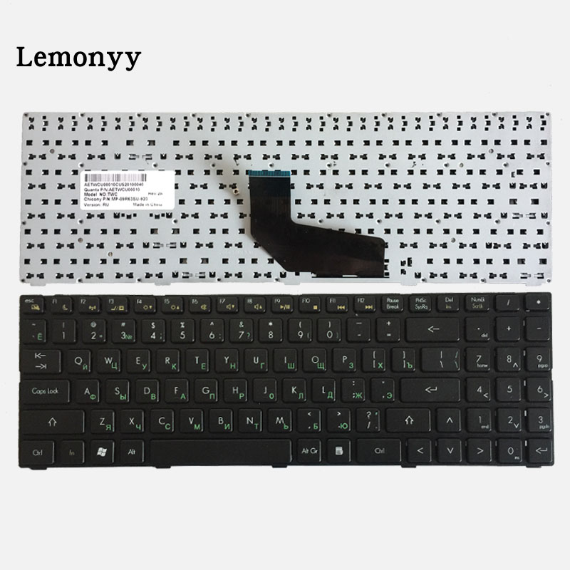 Russian laptop Keyboard for DNS TWC K580S i5 i7 D0 D1 D2 D3 K580N K580C K620C AETWC700010 MP-09R63SU-920 RU Black with frame new laptop keyboard for dns 0155814 0155827 ru russian black as photo