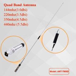 Antena móvel 144/220/350/440 mhz da faixa do quadrilátero do rádio para o rádio kt7900d do carro de qyt KT-7900D