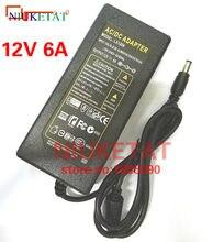 Adaptateur d'alimentation LED, 1 pièce, 12V 6A 12V6A AC100V-240V, transformateur pour bande LED 5050 2835, pas avec ligne