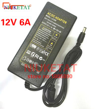 NIUKETAT LX1206 12V 6A 12V6A LED light power adapter LED Power Supply Adapter Transformer for 5050 3528 LED strip not with line