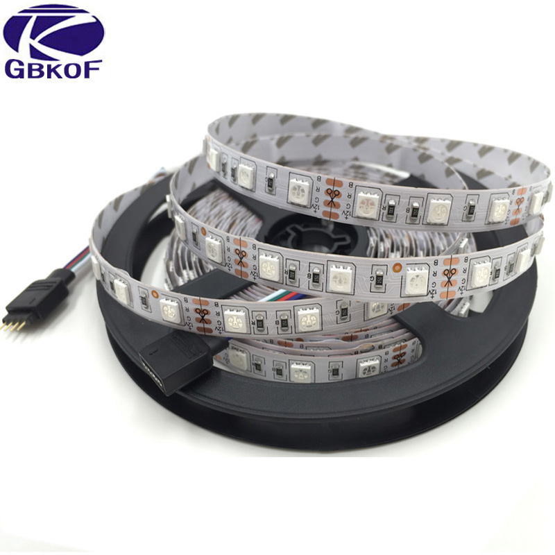 GBKOF New Decorate 15M 10M 20M RGB Led Strip 5050 60Leds/M christmas Light Waterproof Tape+18A Touch RF Dimmer Remote Controller