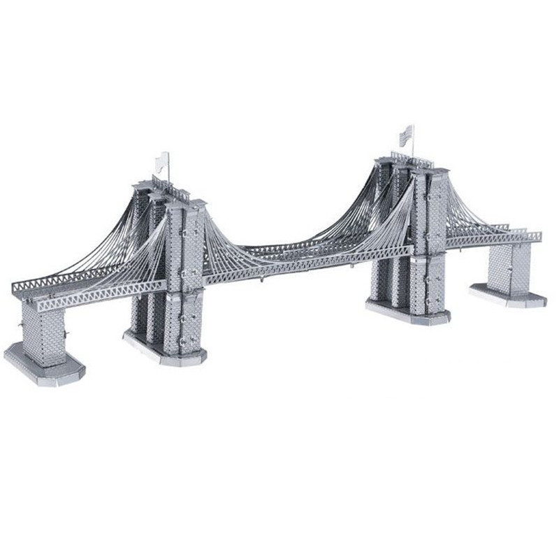 Brooklyn Bridge 3D Puzzle All metal DIY Assembly Building Model Creative Gift Ed