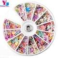 1200 pcs Mixed Estrela Flor do Coração 3D Decorações Nail Art Tips Glitters Pedrinhas Slice Prego Ferramentas Manicure + Roda Livre grátis