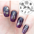 BORN PRETTY Nail Art Stamping Plates Xmas Christmas Deer Fireworks Nails Stamp Image Template Manicure Stencils BP82
