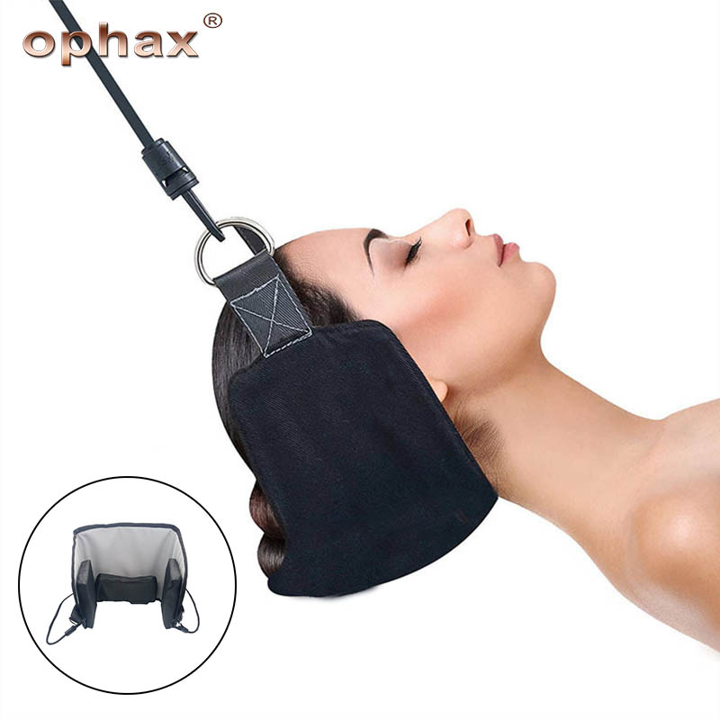 OPHAX Portable Neck Tractor Hammock Cervical Traction Device Pain Relief Head Traction Frame Physical Therapy Health Care