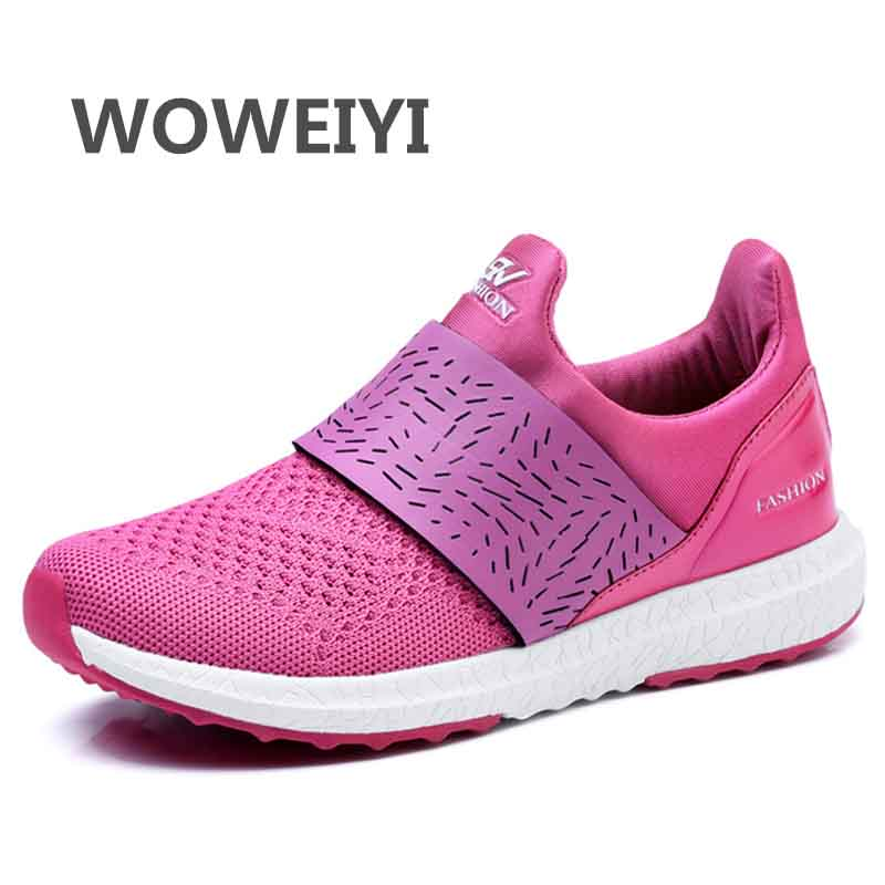 ФОТО Summer Trainers Women Shoes Flat Shoes Walking Casual Soft Breathable Mesh Zapatillas Deportivas Summer 2017 Woman Shoes