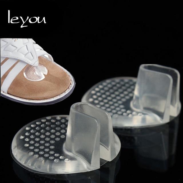 LeYou Chân Gel Xỏ Ngón Silicone Kẹp Xỏ ngón Chân Trước Miếng Lót Dép Đế Lót Cách Nhiệt Dạng Gel Trong Suốt Giày Dạng Giày Sandal Miếng Lót