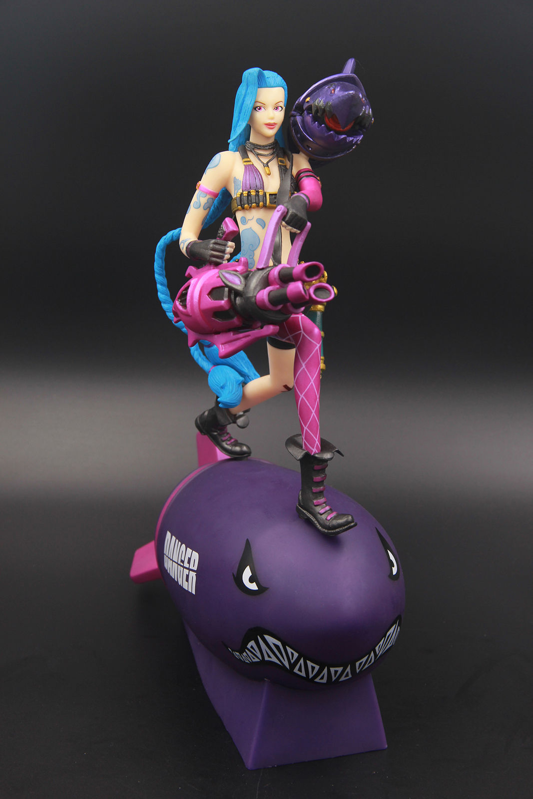 LOL League Marksman Loose Cannon Jinx Rocket Figure Statue Model New Anime Figure Collectible Model Toy Of Legends