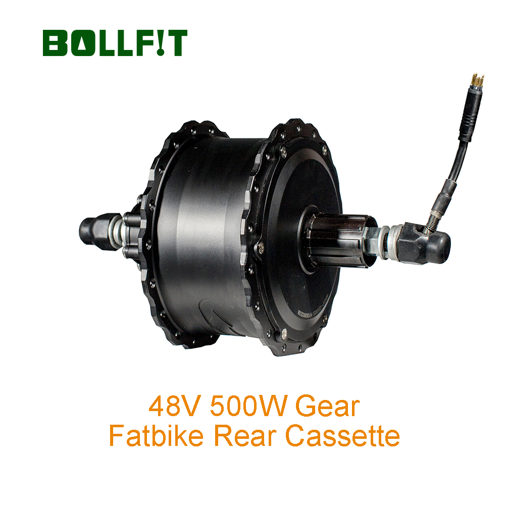 BOLLFIT 48V 500W Rear Fatbike Motor for Electric bicycle Green Pedel MXUS High Speed Brushless Gear Hub Motor Snowbike