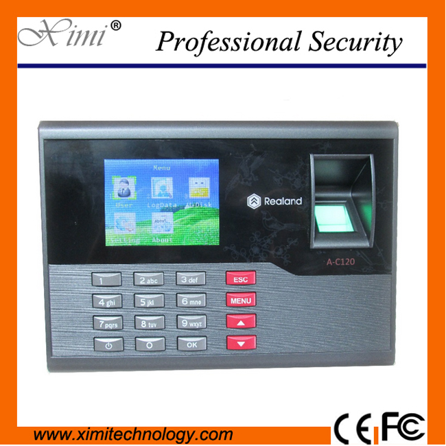 Free RFID Card and Fingerprint Time attendance TFT Time Recorder Clock System A-C120 500 templates 30 000 transaction capacity f6 fingerprint access control with 125khz rfid card and fingerprint time attendance
