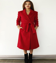 Newest 2017 Women Autumn And Winter Plus Size Long Woolen Jackets Coats Fashion Long Sleeve With Belt  Overcoat Coats