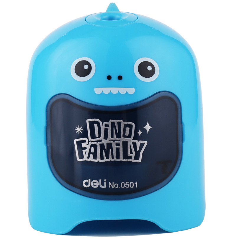 Deli cute automatic Electric pencil sharpener stationery for students Pencil Sharpener Creative school & office supplies 1pcs creative cute mermaid pencil sharpener kids school toy stationery princess doll style manual pencil sharpener