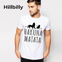 Easystorm HAKUNA MATATA Men S Big Size T Shirts Short Sleeve Slim Fit Fashion Tops Tees
