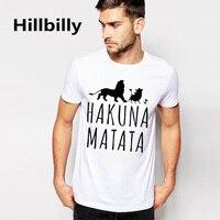 Easystorm HAKUNA MATATA Men S Big Size T Shirts Short Sleeve Slim Fit Fashion Tops Tees