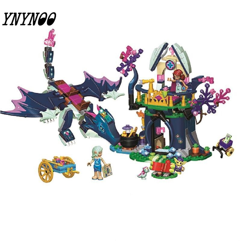 New 10697 467 Pcs Elves The Rosalind healing hiding place Building Blocks DIY Bricks toys For Children 41187 for Girl