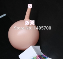 Inflatable Penis  Dildo Ball Magic Simulation Penis Adsorption Energy-Saving Blow UP Sex doll Female sex toys Party Sex toys