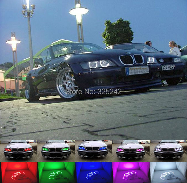 for bmw z3 series 96 02 m coupe roadster 99 02 excellent angel eyes kit multi color ultra bright. Black Bedroom Furniture Sets. Home Design Ideas