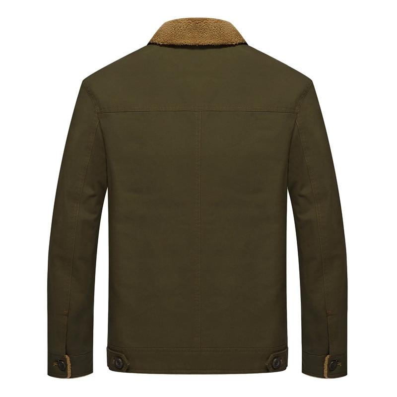 Winter Men Vintage Bomber Air Force Jacket Thicken Pilot Outwear Truck Coat